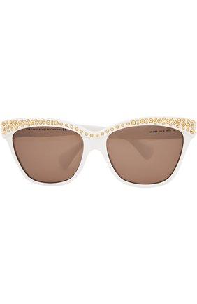 Солнцезащитные очки Alexander McQueen белые | Фото №1