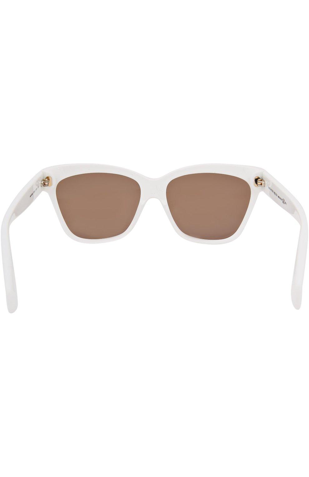 Солнцезащитные очки Alexander McQueen белые | Фото №3