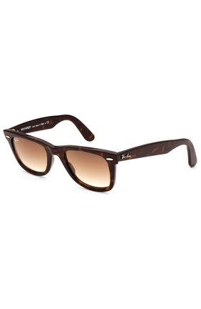 Мужские солнцезащитные очки RAY-BAN коричневого цвета, арт. 2140-902/51 | Фото 1