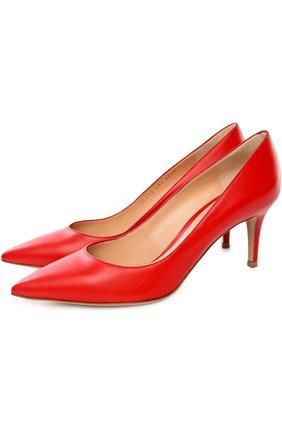 Кожаные туфли Gianvito 70 на шпильке | Фото №2