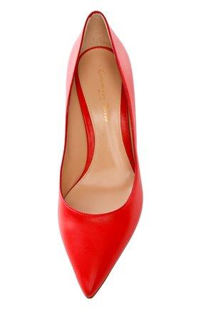 Кожаные туфли Gianvito 70 на шпильке | Фото №4