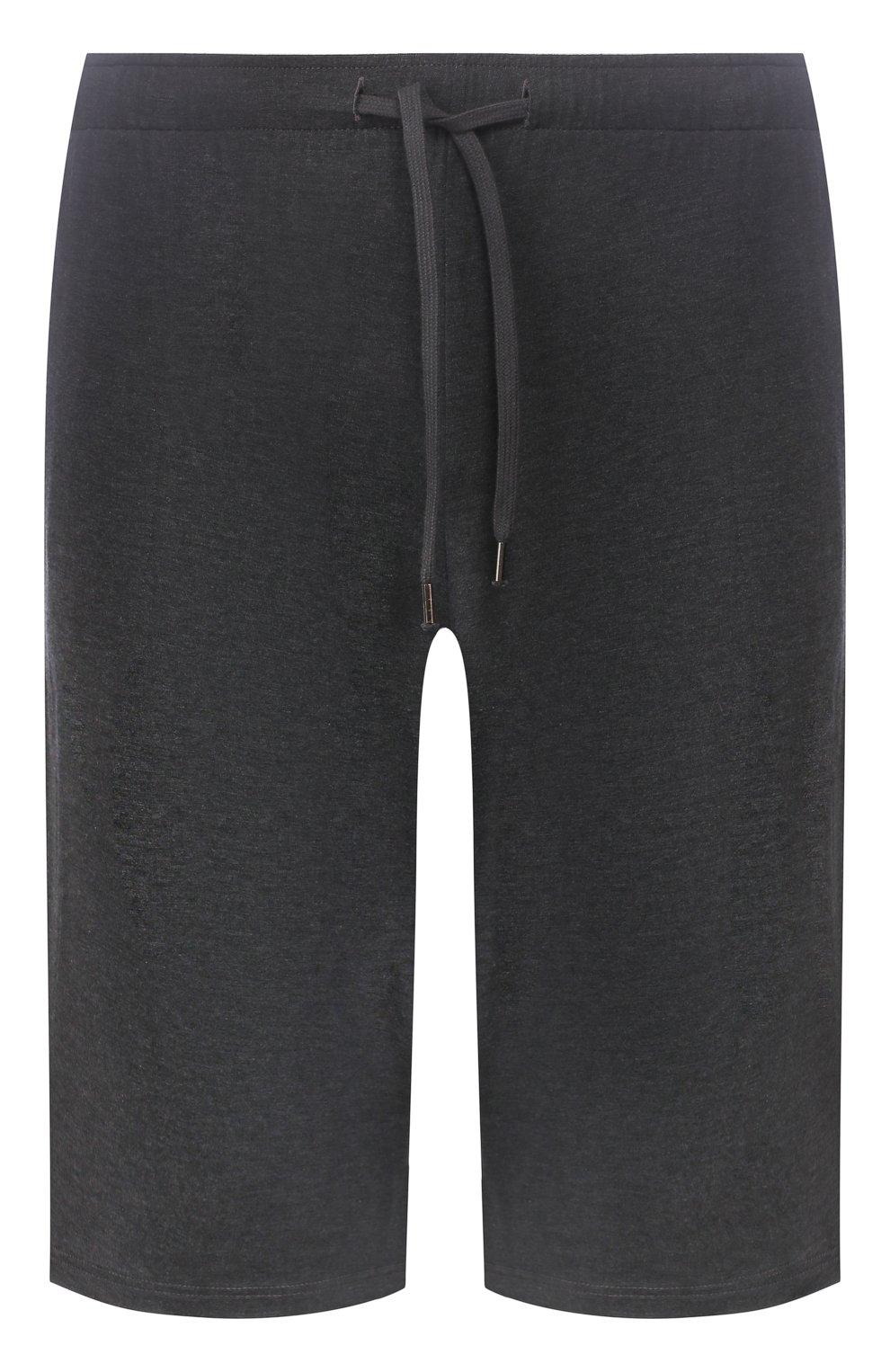 Мужские домашние шорты DEREK ROSE темно-серого цвета, арт. 3559-MARL001   Фото 1 (Кросс-КТ: домашняя одежда; Материал внешний: Синтетический материал; Статус проверки: Проверена категория)