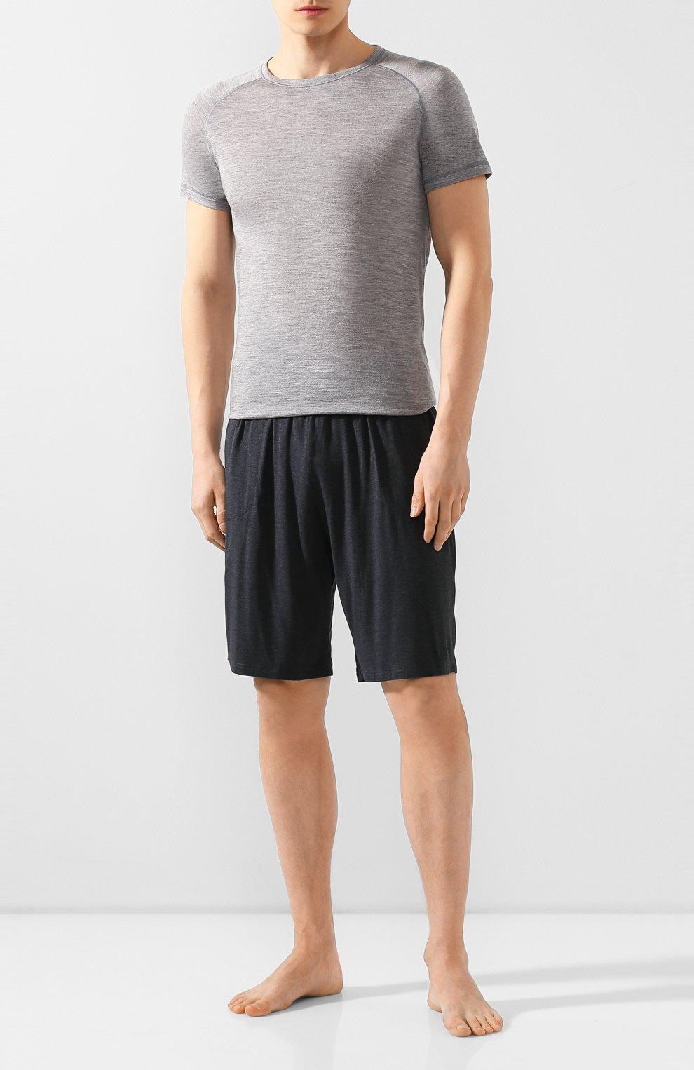Мужские домашние шорты DEREK ROSE темно-серого цвета, арт. 3559-MARL001   Фото 2 (Кросс-КТ: домашняя одежда; Материал внешний: Синтетический материал; Статус проверки: Проверена категория)