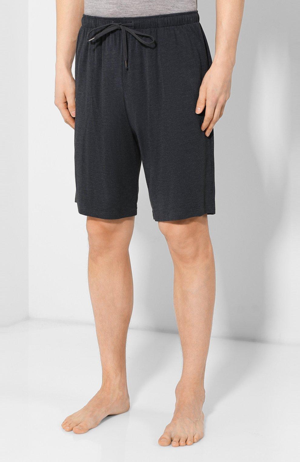 Мужские домашние шорты DEREK ROSE темно-серого цвета, арт. 3559-MARL001   Фото 3 (Кросс-КТ: домашняя одежда; Материал внешний: Синтетический материал; Статус проверки: Проверена категория)