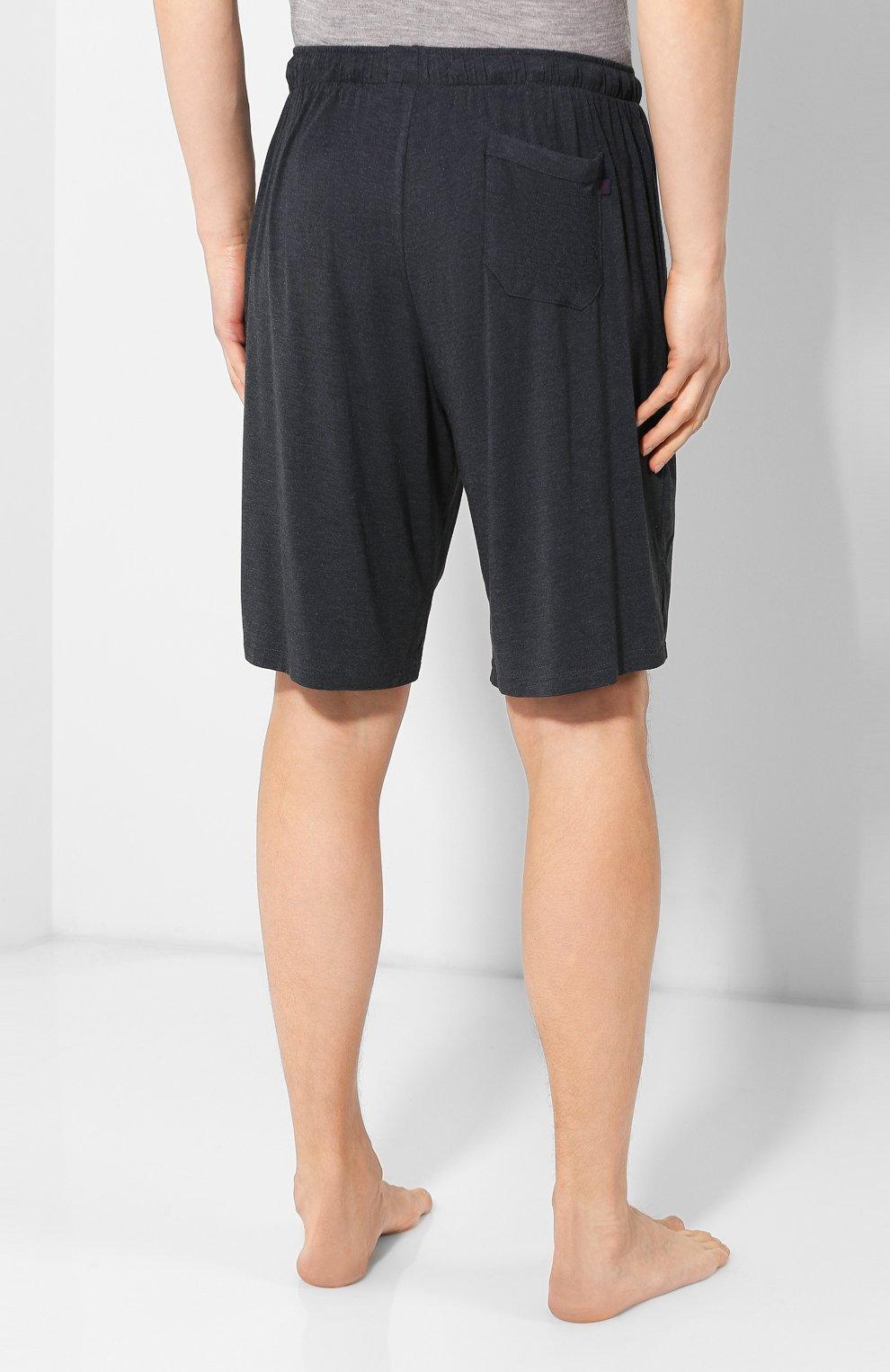 Мужские домашние шорты DEREK ROSE темно-серого цвета, арт. 3559-MARL001   Фото 4 (Кросс-КТ: домашняя одежда; Материал внешний: Синтетический материал; Статус проверки: Проверена категория)