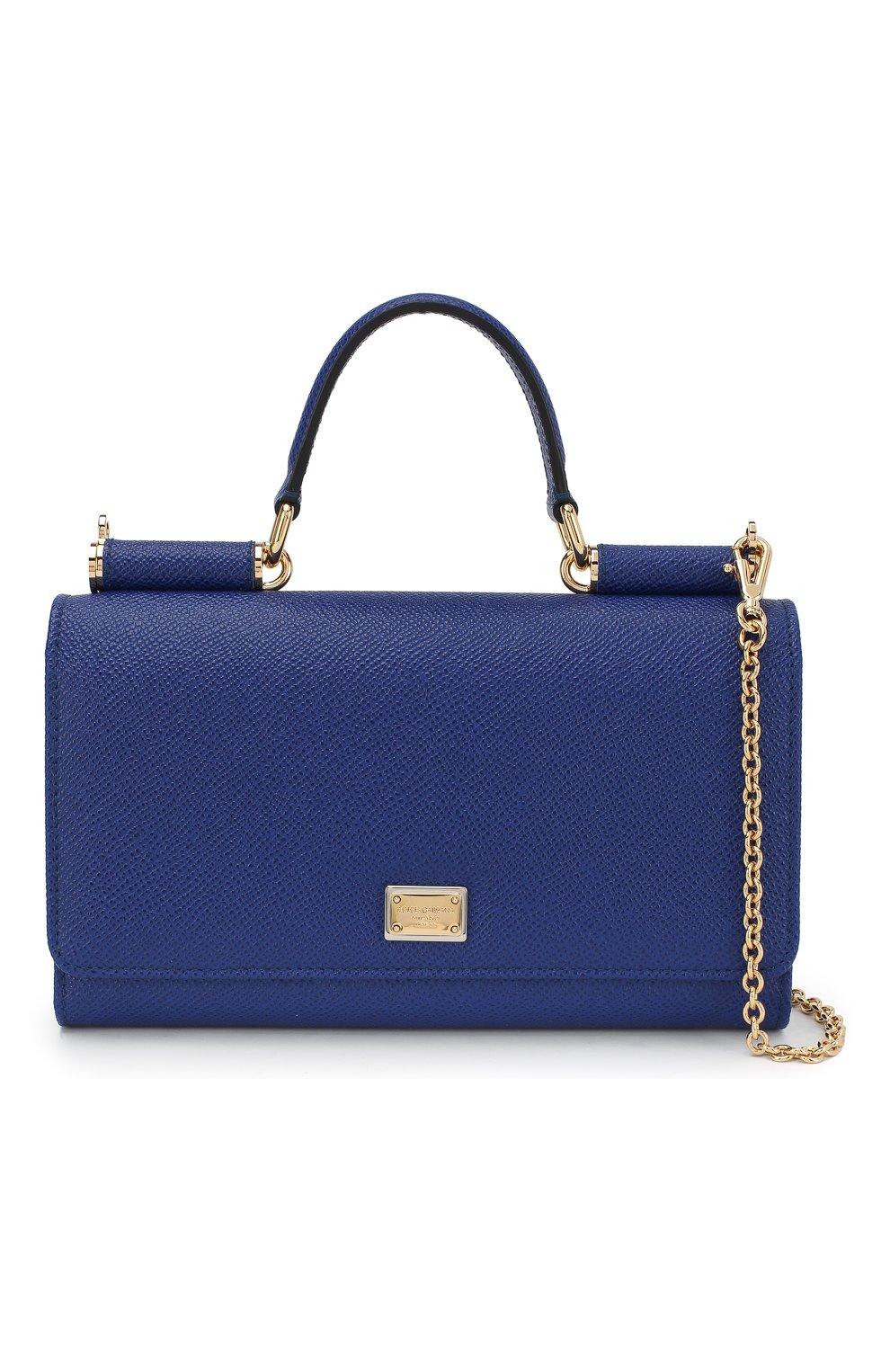 Сумка Sicily Von на цепочке Dolce & Gabbana синего цвета | Фото №5