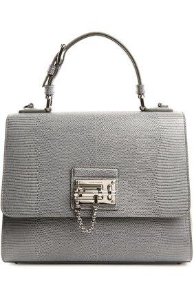Кожаная сумка Monica с тиснением под рептилию | Фото №1