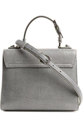 Кожаная сумка Monica с тиснением под рептилию | Фото №2