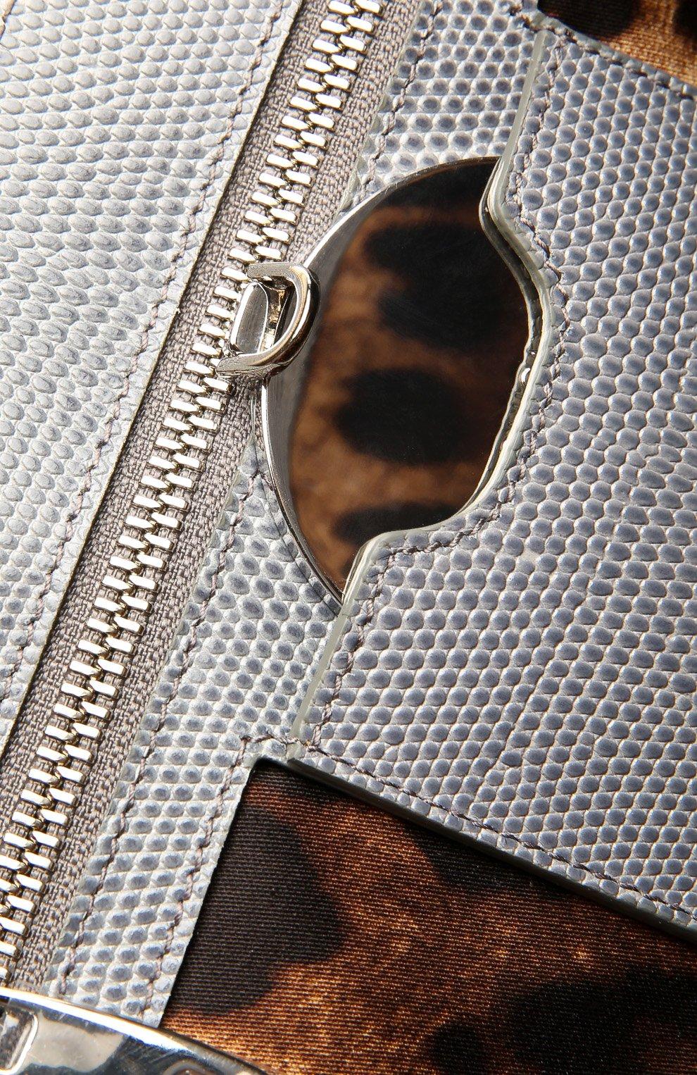 Кожаная сумка Monica с тиснением под рептилию | Фото №3