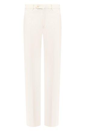 Мужской хлопковые брюки LORO PIANA белого цвета, арт. FAF0330 | Фото 1
