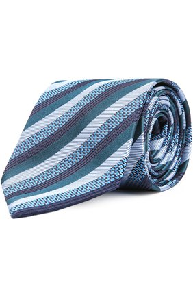 Мужской галстук BRIONI морской волны цвета, арт. 063I/04497 | Фото 1
