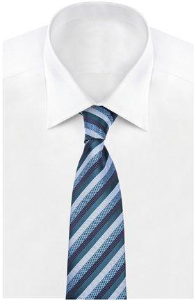 Мужской галстук BRIONI морской волны цвета, арт. 063I/04497 | Фото 2