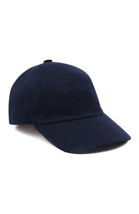 Мужской кашемировая бейсболка  LORO PIANA темно-синего цвета, арт. FAF4352 | Фото 1
