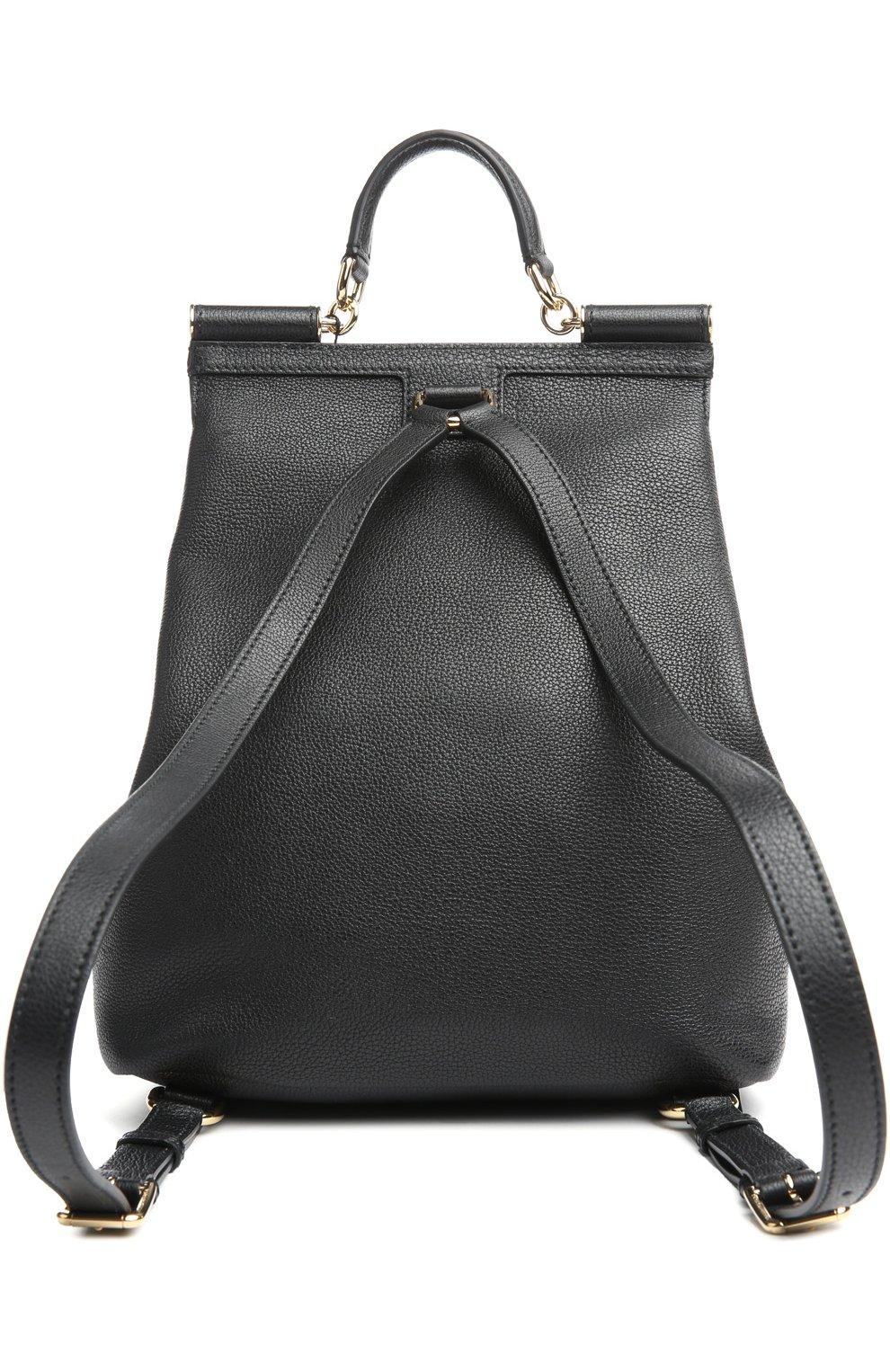Кожаный рюкзак Sicily Backpack с зеркалом | Фото №2