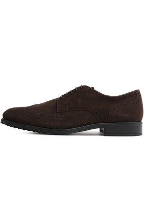 Туфли Gomma Rq Tod's темно-коричневые | Фото №1