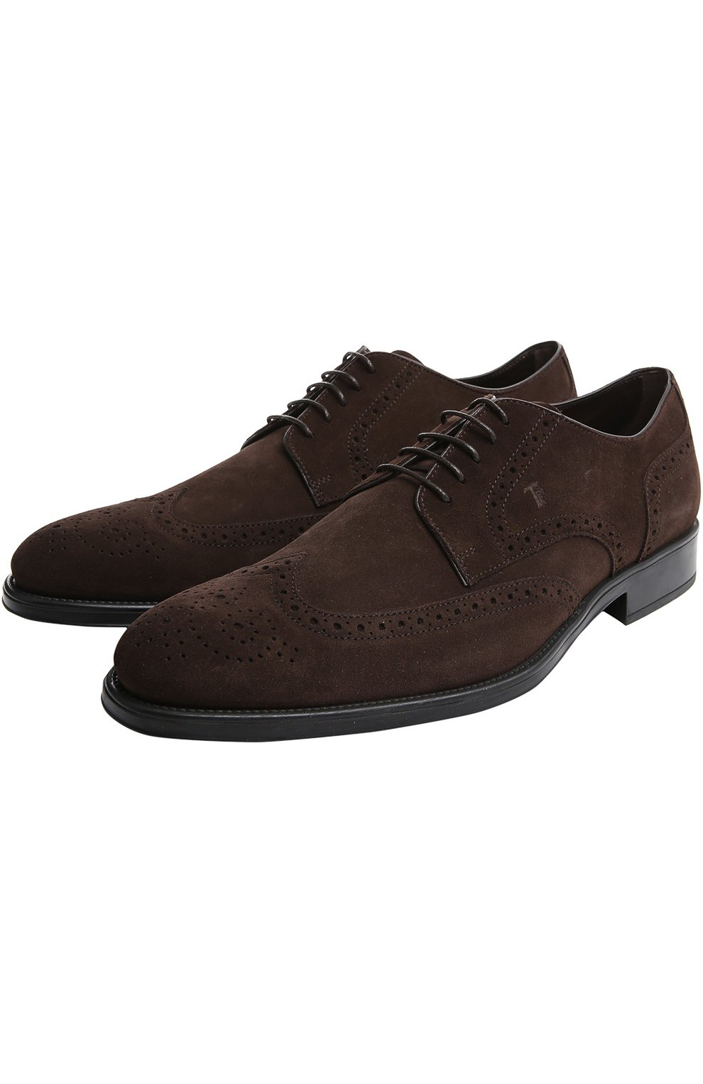 Туфли Gomma Rq Tod's темно-коричневые | Фото №2