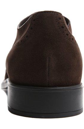 Туфли Gomma Rq Tod's темно-коричневые | Фото №3