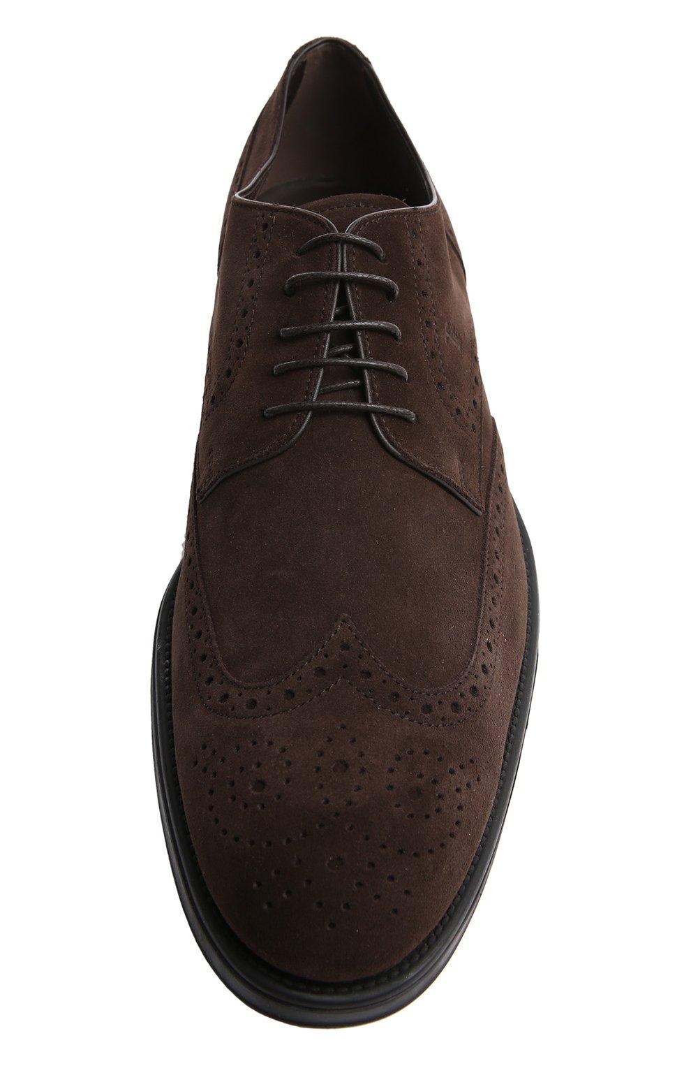 Туфли Gomma Rq Tod's темно-коричневые | Фото №4