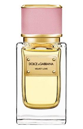 Женский парфюмерная вода velvet collection love  DOLCE & GABBANA бесцветного цвета, арт. 737052497136 | Фото 1