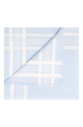 Мужской хлопковый платок SIMONNOT-GODARD светло-голубого цвета, арт. C0NCERT0 | Фото 1