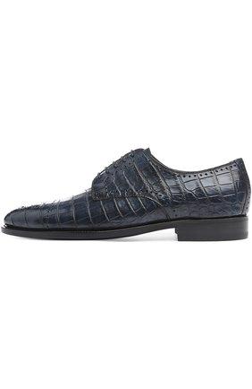 Мужской туфли anto из кожи крокодила KITON синего цвета, арт. USSDECH/N102   Фото 1