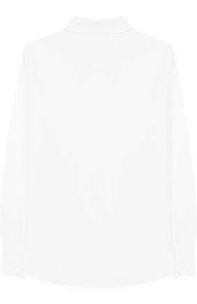 Детская хлопковая рубашка с воротником кент DAL LAGO белого цвета, арт. N402/1167/7-12 | Фото 2