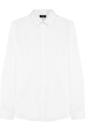Детская хлопковая рубашка прямого кроя DAL LAGO белого цвета, арт. N402/1167/XS-L | Фото 1