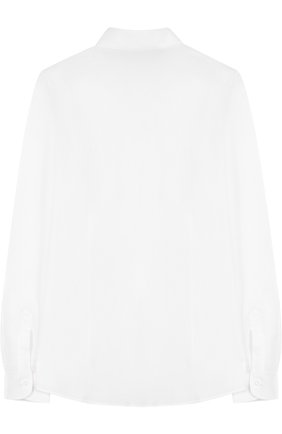 Детская хлопковая рубашка прямого кроя DAL LAGO белого цвета, арт. N402/1167/XS-L | Фото 2