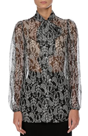 Блуза Dolce & Gabbana черно-белая | Фото №2