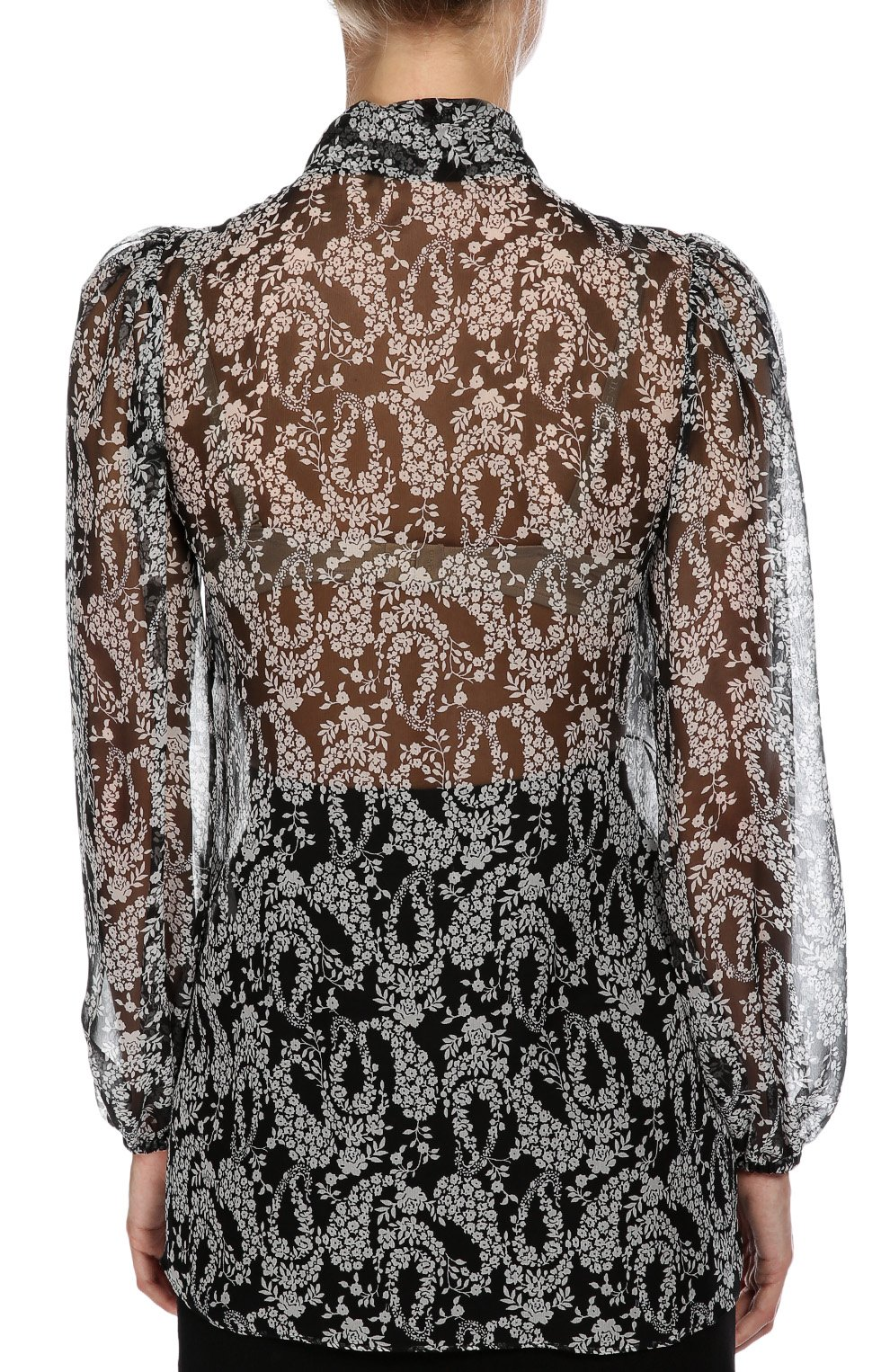 Блуза Dolce & Gabbana черно-белая | Фото №3