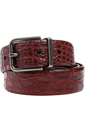 Ремень Dolce & Gabbana бордовый   Фото №1