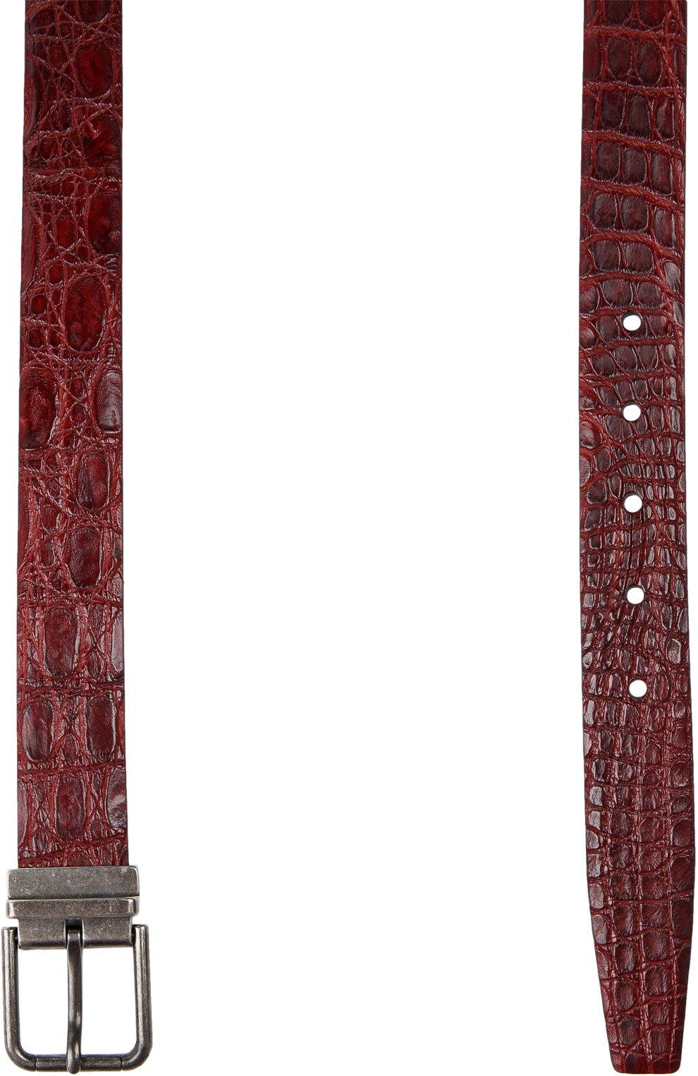 Ремень Dolce & Gabbana бордовый   Фото №2