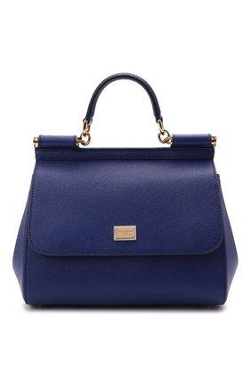 Сумка Sicily medium Dolce & Gabbana синяя цвета | Фото №1