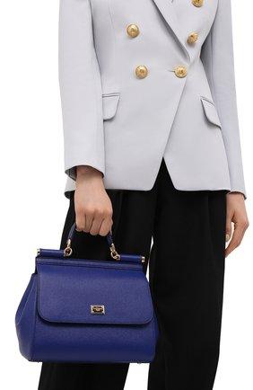 Сумка Sicily medium Dolce & Gabbana синяя цвета | Фото №2