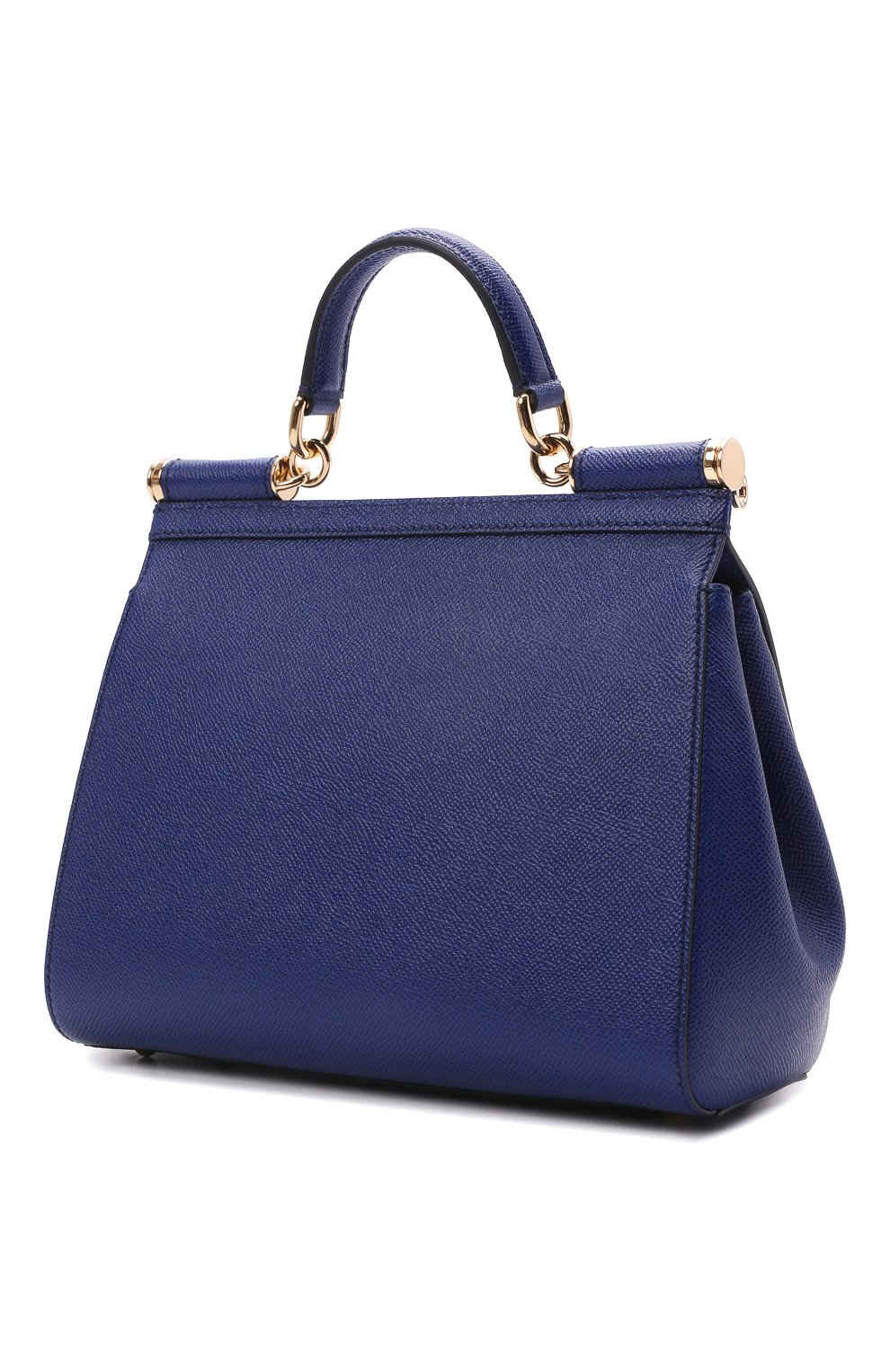 Сумка Sicily medium Dolce & Gabbana синяя цвета | Фото №3