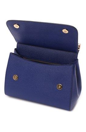 Сумка Sicily medium Dolce & Gabbana синяя цвета | Фото №4