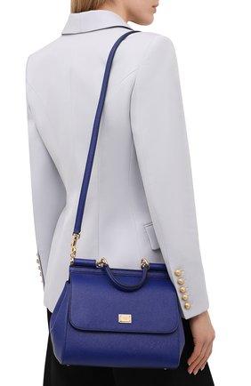 Сумка Sicily medium Dolce & Gabbana синяя цвета | Фото №5