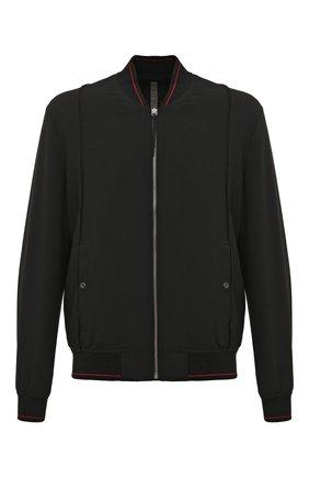 Куртка-бомбер Silent черная | Фото №1