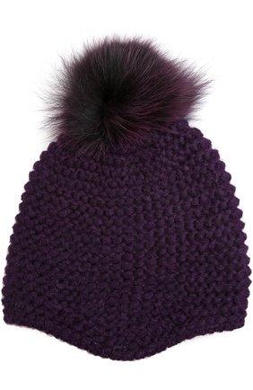 Вязаная шапка с помпоном | Фото №1