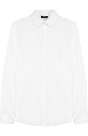 Детская хлопковая рубашка прямого кроя DAL LAGO белого цвета, арт. N402/1165/XS-L | Фото 1