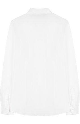 Детская хлопковая рубашка прямого кроя DAL LAGO белого цвета, арт. N402/1165/XS-L | Фото 2