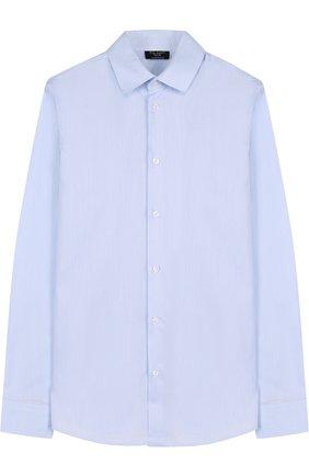 Детская хлопковая рубашка прямого кроя DAL LAGO голубого цвета, арт. N402/1165/XS-L | Фото 1