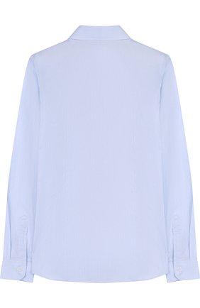 Детская хлопковая рубашка прямого кроя DAL LAGO голубого цвета, арт. N402/1165/XS-L | Фото 2