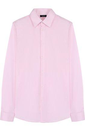 Детская хлопковая рубашка прямого кроя DAL LAGO розового цвета, арт. N402/1165/XS-L | Фото 1