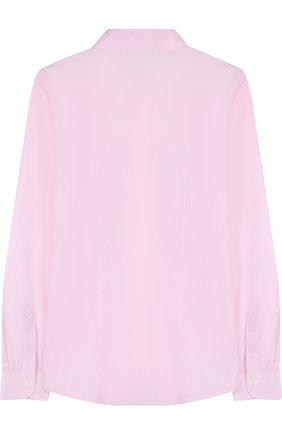 Детская хлопковая рубашка прямого кроя DAL LAGO розового цвета, арт. N402/1165/XS-L | Фото 2