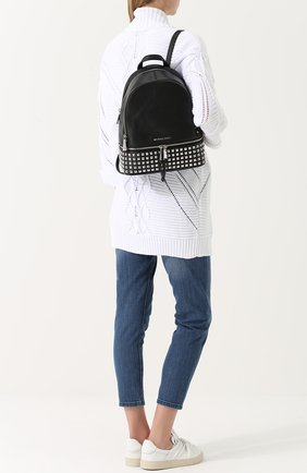 Кожаный рюкзак Rhea Zip с заклепками   Фото №2