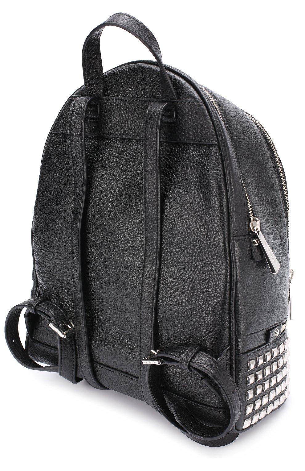 Кожаный рюкзак Rhea Zip с заклепками   Фото №3