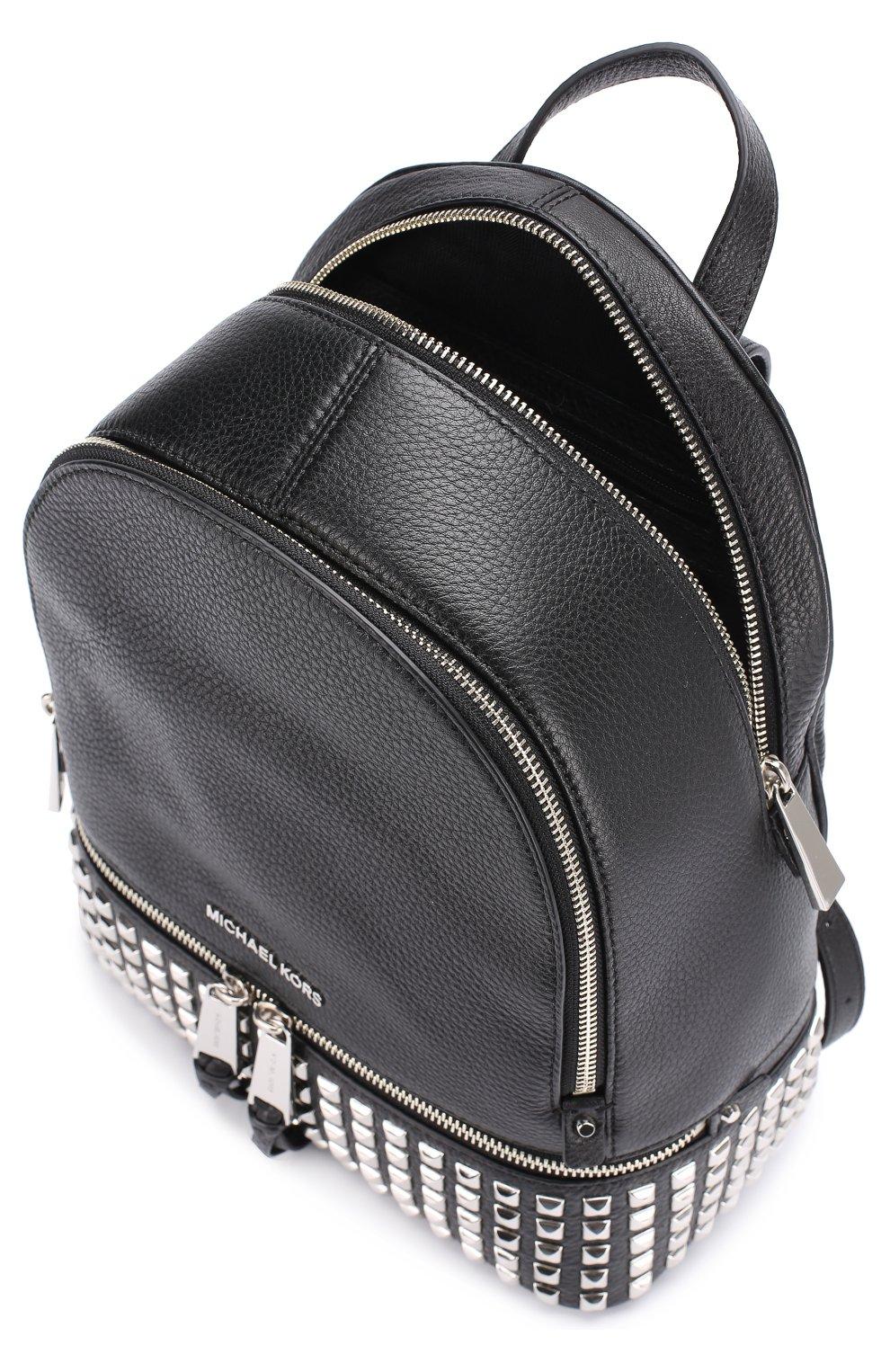 Кожаный рюкзак Rhea Zip с заклепками   Фото №4