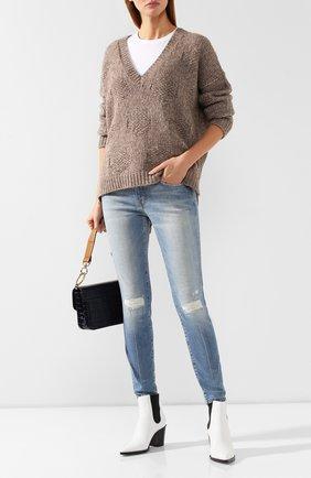 Женские джинсы CURRENT/ELLIOTT голубого цвета, арт. 1280-0944/M | Фото 2
