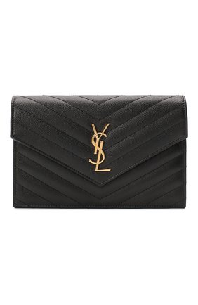 Женская сумка monogram envelope mini  SAINT LAURENT черного цвета, арт. 393953/B0W01 | Фото 1